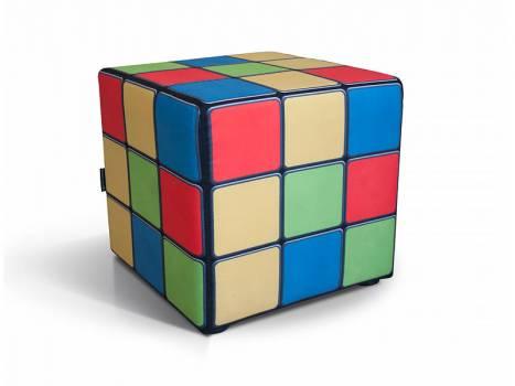 Пуф с принтом Кубик Рубика