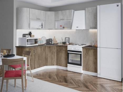 Кухня угловая радиусная Палермо 2
