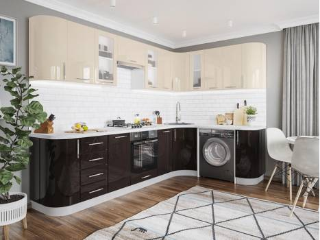 Кухня угловая радиусная Танго 7