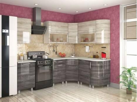 Кухня угловая радиусная Танго 13