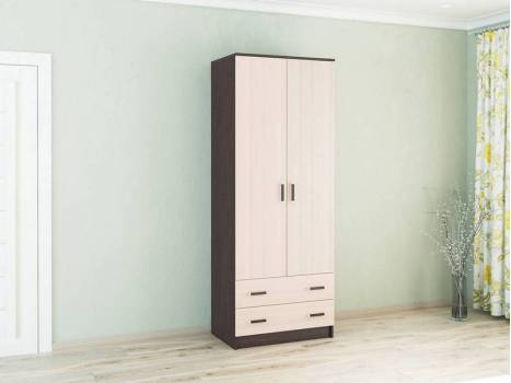 Шкаф 2-х створчатый с ящиками Лагуна 0,8